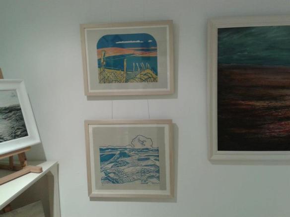 Work in Samphire Gallery, Cornwall